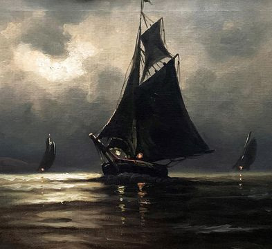 Leon Moran Sailboats at Night