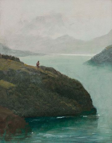 Albert Bierstadt Western Scenery Unframed