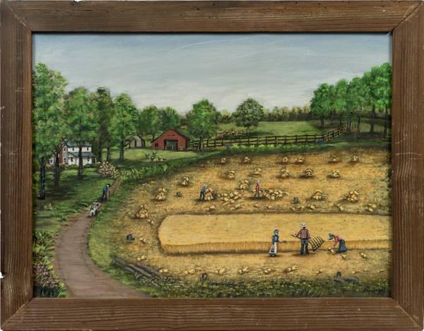 Minnie Reinhardt North Carolina Folk Farm Scene