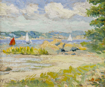 Walter Cole Brigham Shelter Island Heights, NY, Lake Scene Unframed