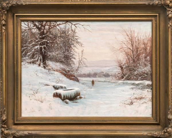 Edward Gay A Walk in Winter Framed