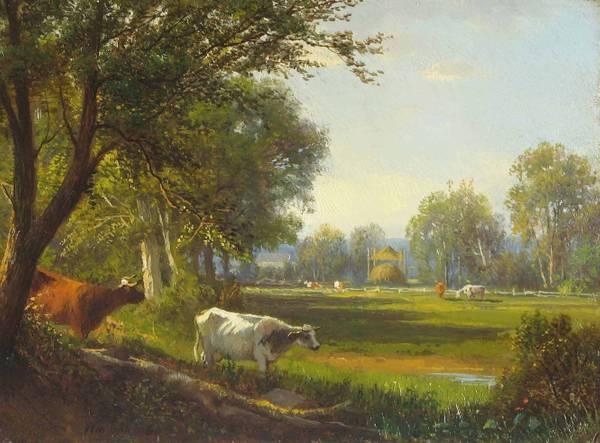 William Hart Summer Meadow, 1860 unframed