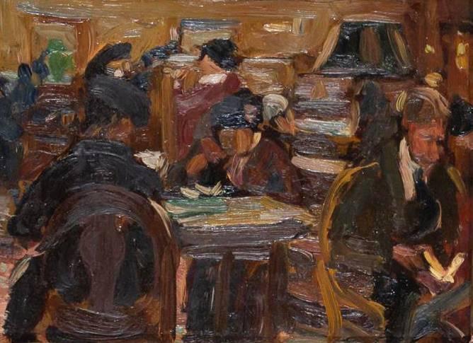 Theresa Ferber Bernstein New York Public Library Unframed