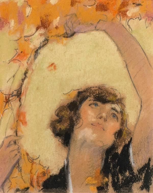 Mary Lane McMillan Woman Looking Upward, c. 1920
