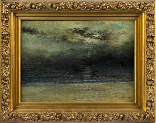 Mary Lord Stevens Dusk at Sea framed