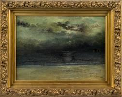 Mary Lord Stevens Dusk at Sea framed