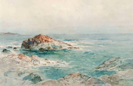 Alfred T. Bricher Low Tide, Indian Rock, Narragansett, Rhode Island Unframed