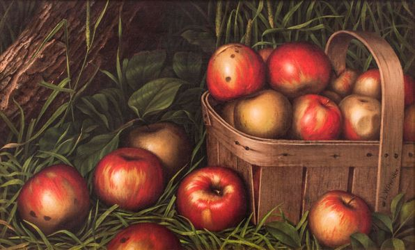Levi Wells Prentice Harvest of Apples Unframed