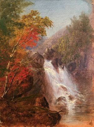 Susie M. Barstow Autumn Waterfall Unframed