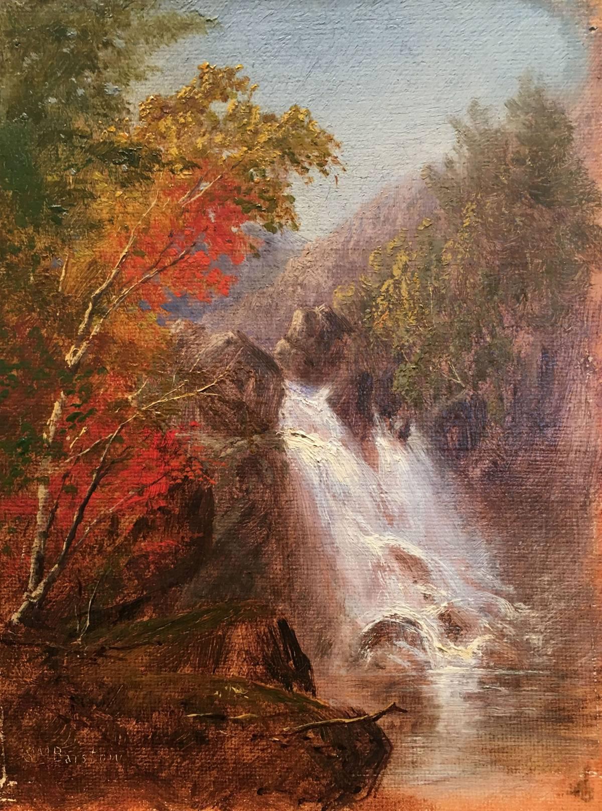 Susie M. Barstow Autumn Waterfall Unframed