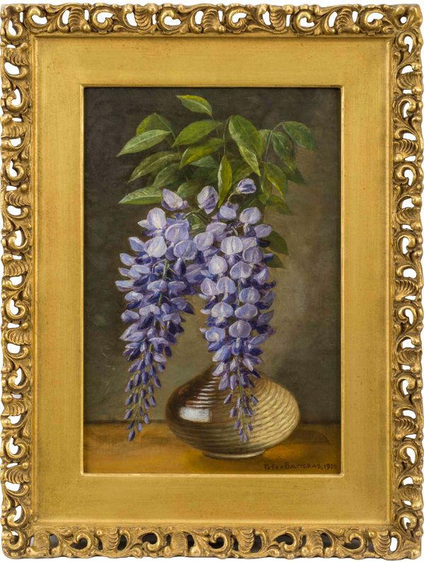 Peter Baumgras Wisteria in a Vase Framed