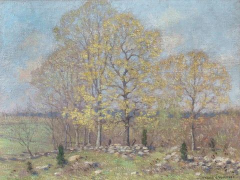 Clark Greenwood Voorhees Early Spring Landscape unframed