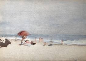 Miss M. J. Whaley  Beach Scene at Coney Island