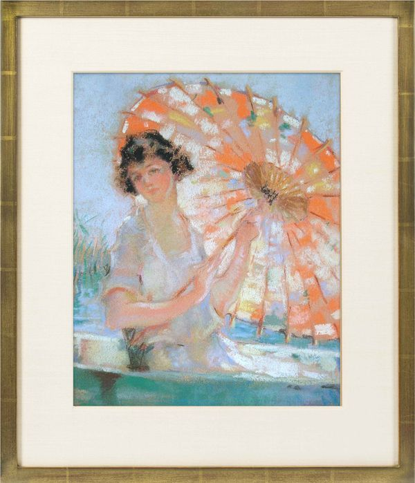 Mary Lane McMillan Young Woman with Parasol