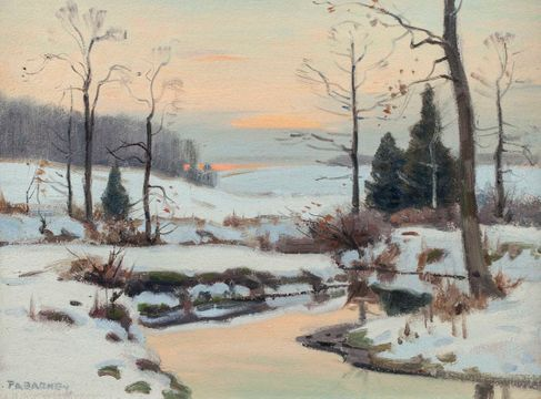 Frank Barney  Winter Landscape Unframed