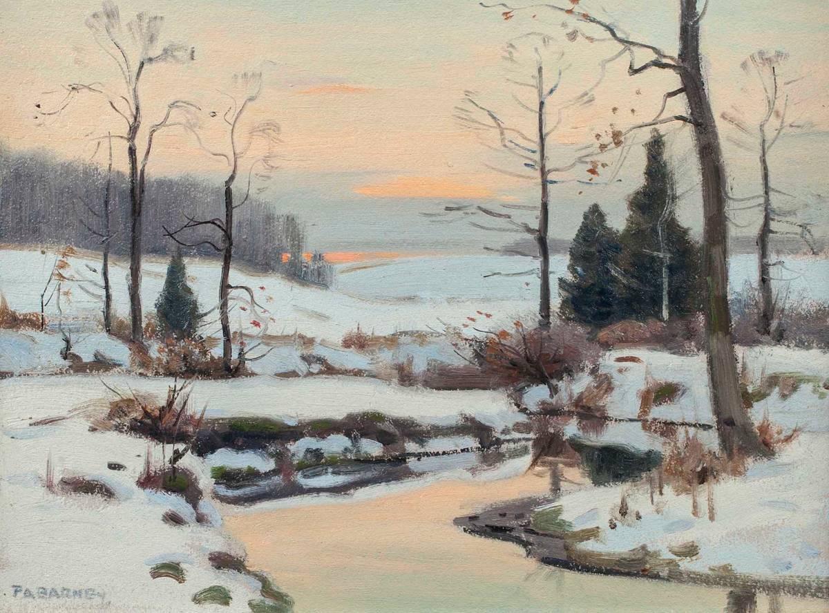 Frank Barney  Winter Landscape Unframed