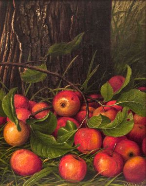 Levi Wells Prentice Apples Under a Tree Unframed