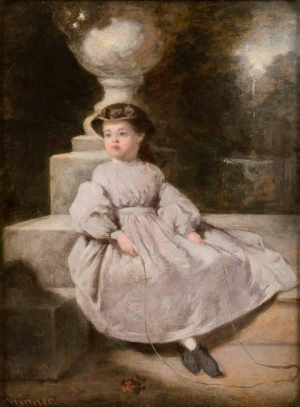 William Winner Mary [At Fairmount Park, Philadelphia] unframedSeated Girl with Jumprope_unframed.jpg