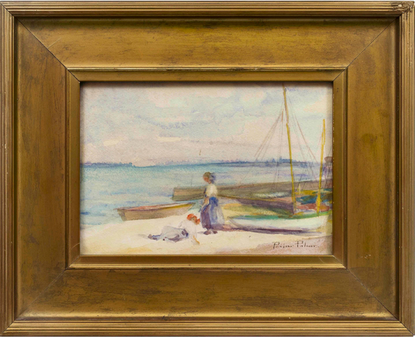 Pauline Palmer On the Beach Framed
