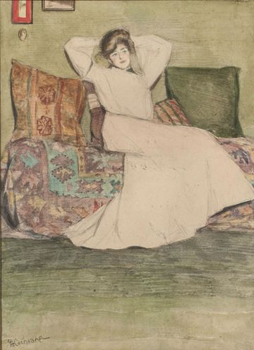 GRACE COCHRANE SANGER  Woman in an Interior Unframed