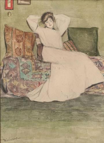 GRACE COCHRANE SANGER  Woman in an Interior Unframed