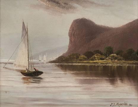 Martini Sailing on the Hudson River Unframed