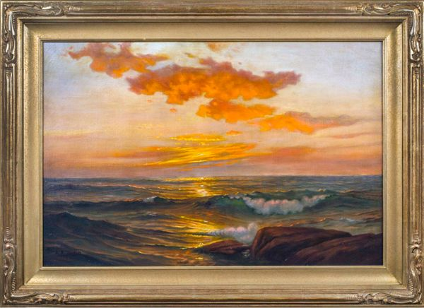 Adelaide Brooks Johnson Seascape at Sunset