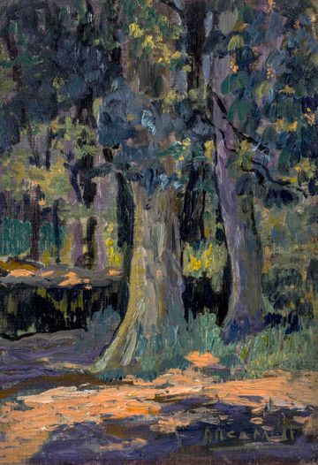 Alice Lolita Muth Cypress Trees unframed