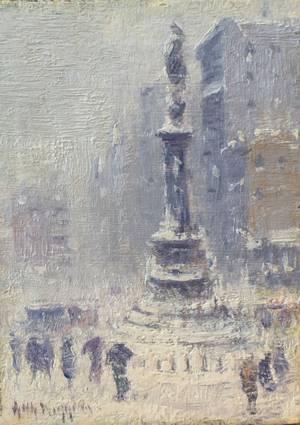 Guy C. Wiggins Columbus Circle Unframed
