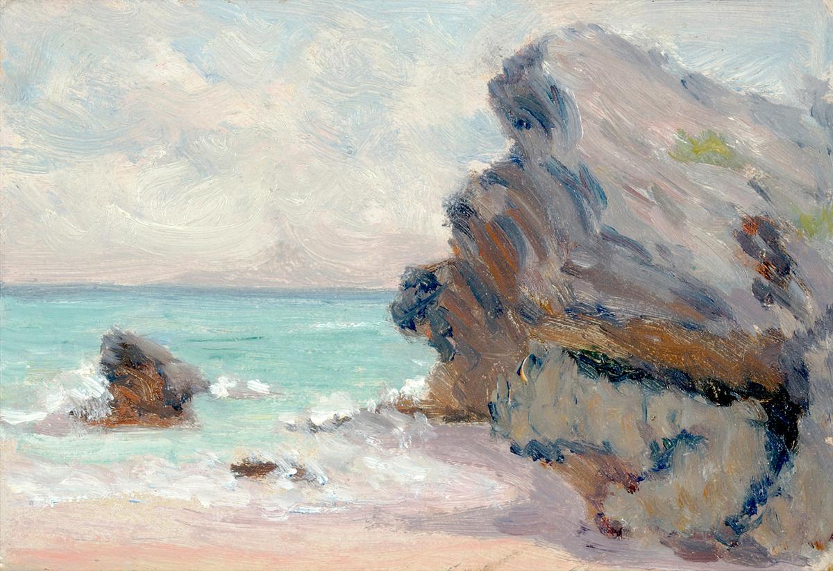 Clark Greenwood Voorhees Beach with Rocky Cliff