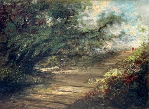 Mary Lord Stevens Path Through the Forest unframed