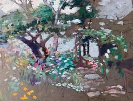 Mary Lane McMillan Summer Garden Sketch unframed