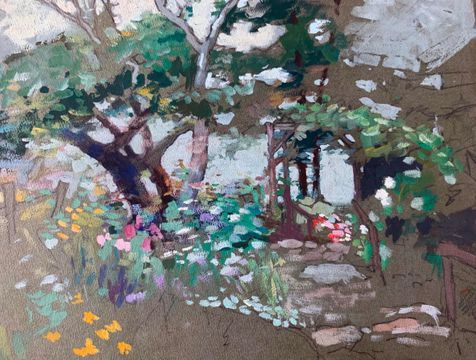 Mary Lane McMillan Summer Garden Sketch unframed
