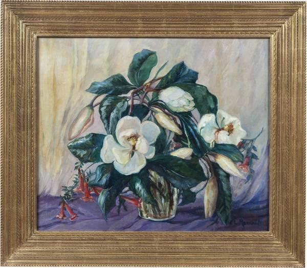 CLARA LOTTE VON MARCARD-CUCUEL  Magnolias Framed