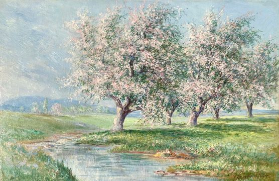 Verner Moore White Apple Blossoms unframed