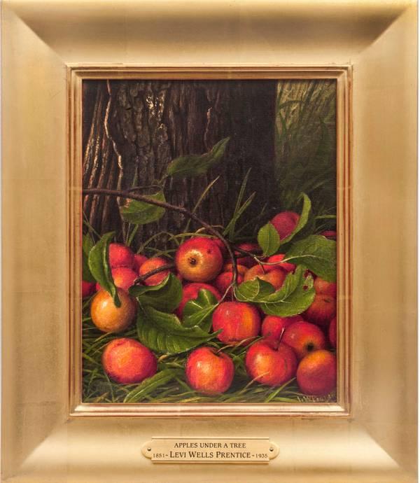 Levi Wells Prentice Apples Under a Tree Framed