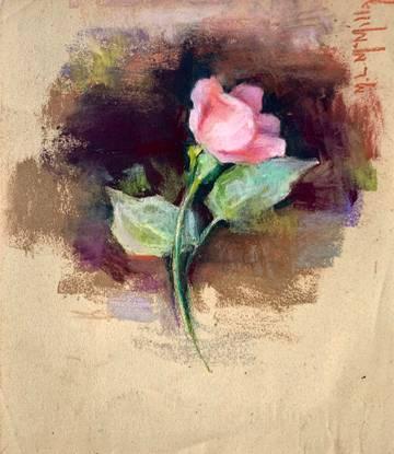Mary Lane McMillan Rose Study, c. 1965 unframed