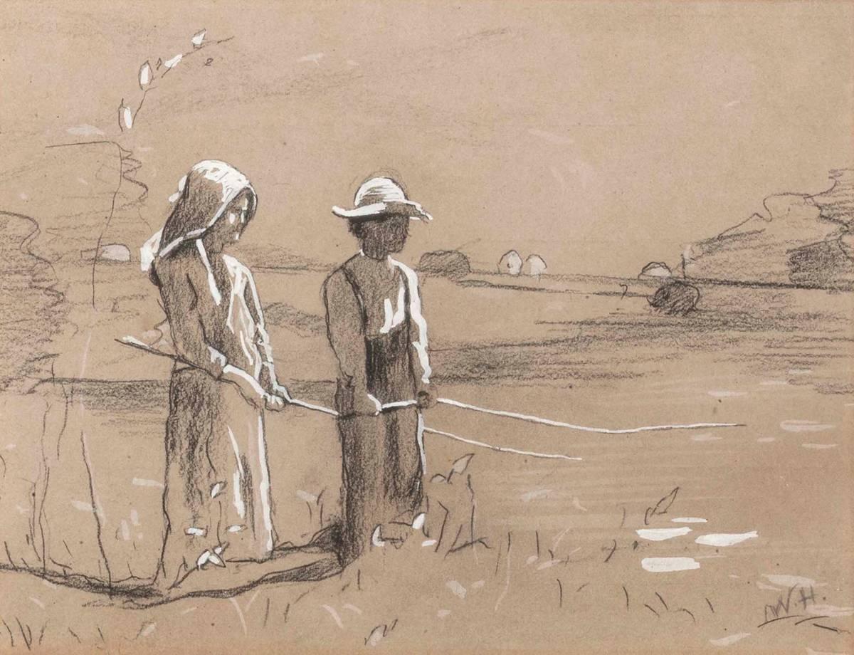 Winslow Homer Fishing Unframed