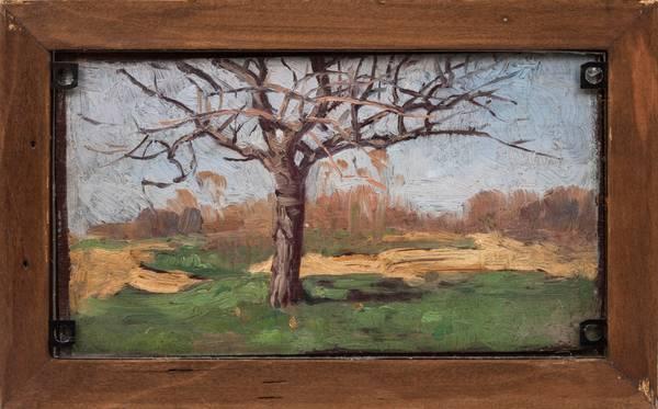 Bedell_LandscapeWithTree_Verso_framed