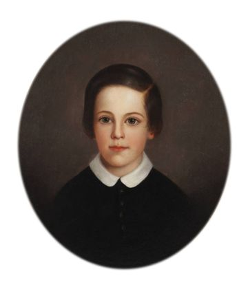 Mary Jane Peale Albert Peale, Age 9, 1858 unframed