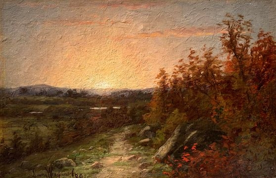 Laura Woodward Sunset, 1880 unframed