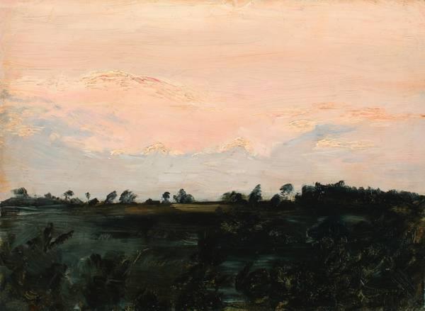 Zoe Worthington Fiske Sunset Study unframed