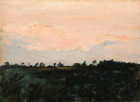 Zoe Worthington Fiske Sunset Study unframed