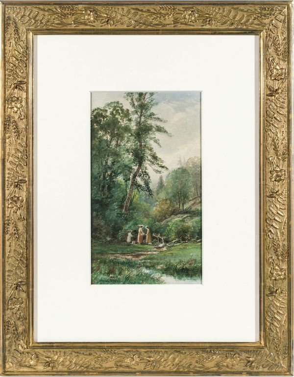 Junius Sloan Afternoon Picnic Unframed