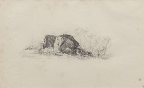 Jervis McEntee Study of a Rock Unframed