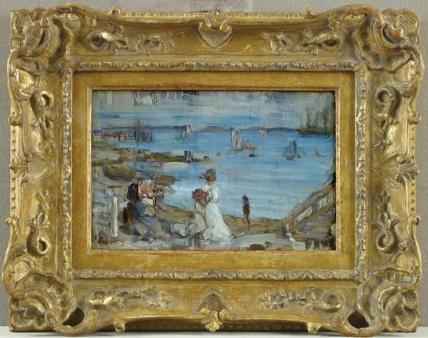 Maurice Brazil Prendergast Harbor-Finistère Framed