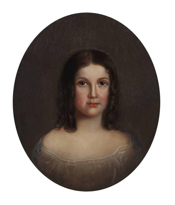 Mary Jane Peale Clara E. Peale, 1858 unframed