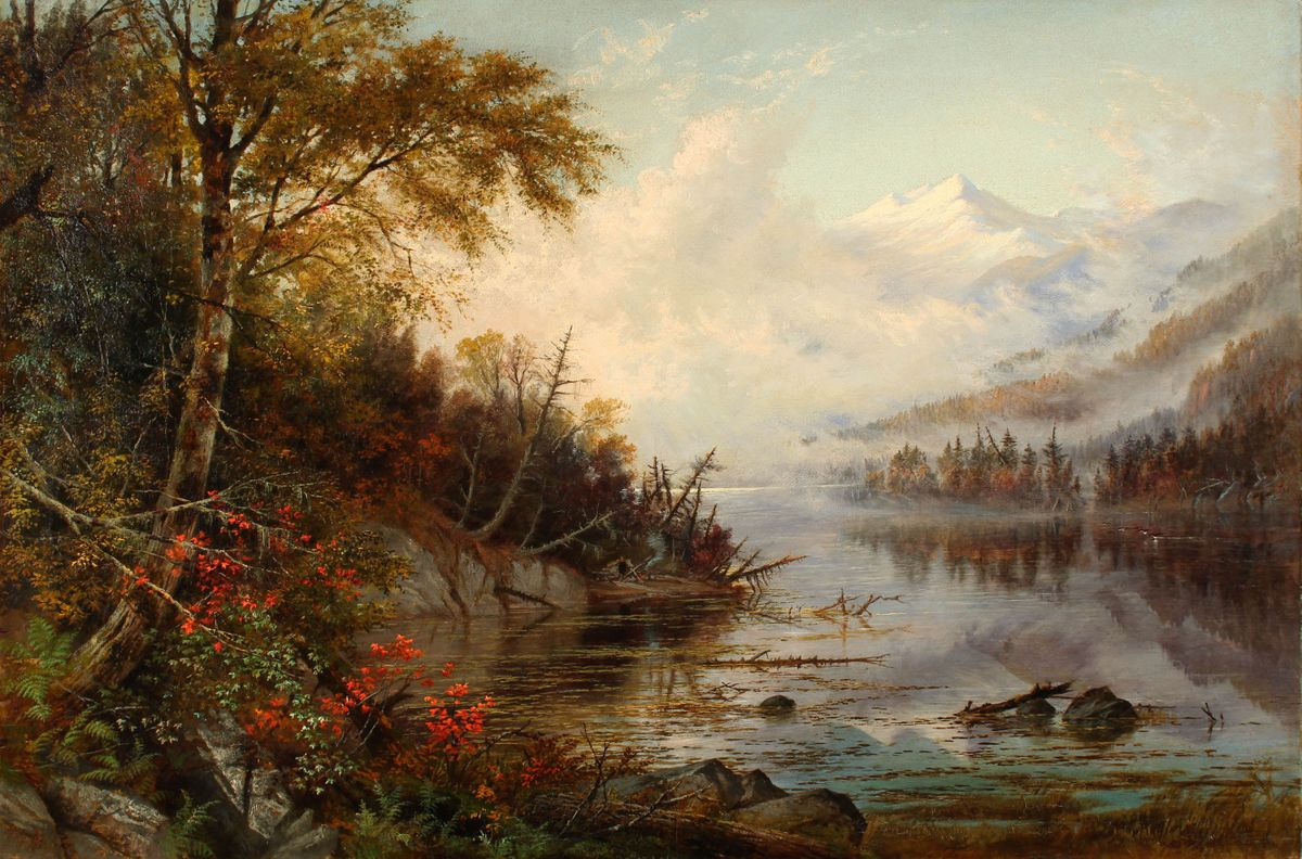 Susie M. Barstow Mountain Lake in Autumn