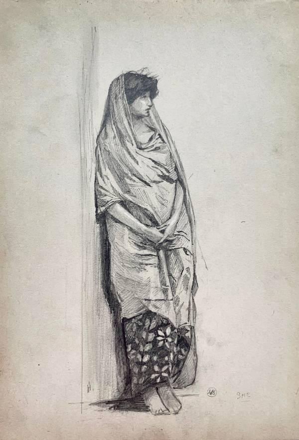 Mary Cummings Browne Woman Standing unframed