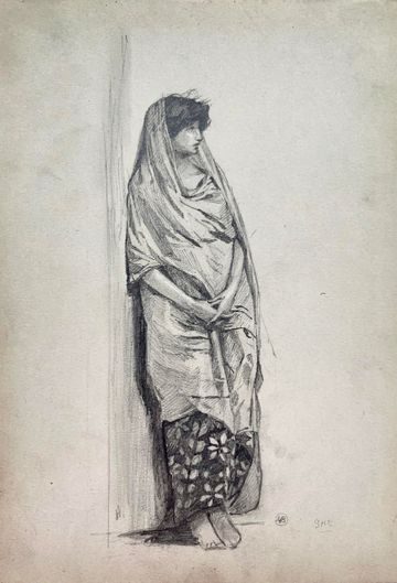 Mary Cummings Browne Woman Standing unframed